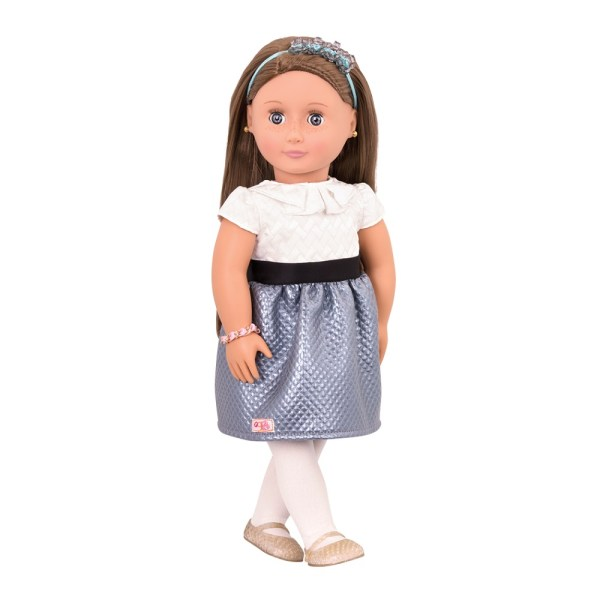 Our Generation Jewelry Speciality Doll Aliane 18inch Brown