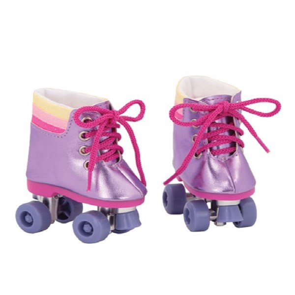 Our Generation Rainbow Rollers Shoes For 18 inch Doll