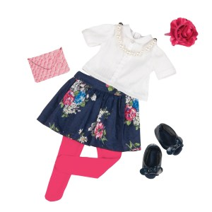 Our Generation Deluxe Floral Skirt Outfit Party Starter