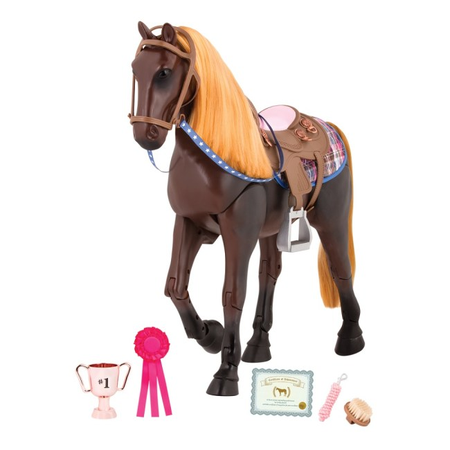 Our Generation Thoroughbred Poseable 20inch Dark Brown Horse