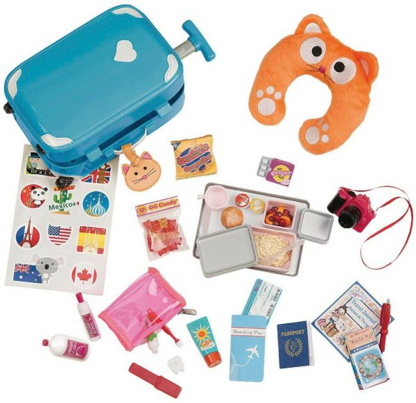 Our Generation Well Travelled Luggage Playset with accs