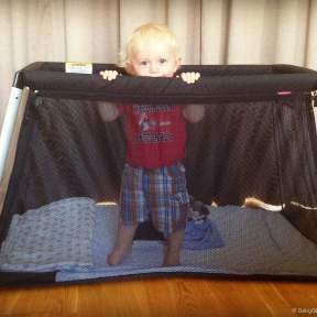 See our road test of the Phil & Teds Traveller light weight travel cot| Product Review | OurGlobetrotters.Com