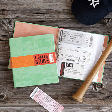 Travel Stub Diary | Gift ideas for Men from Uncommon Goods
