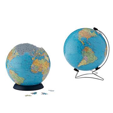3D Globe jigsaw puzzle
