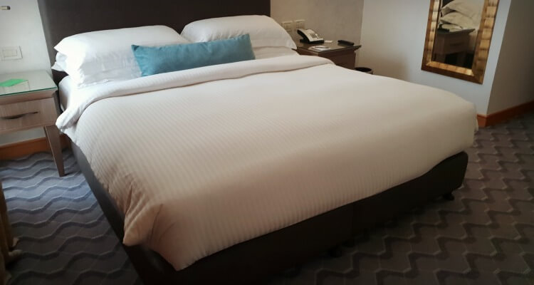 Master bedroom at Gefinor Rotana Beirut a family-friendly hotel option in Lebanon | Our Globetrotters Family Travel Blog Hotel Review