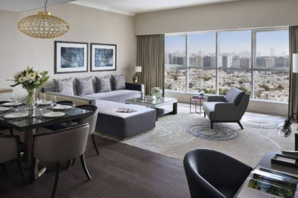 Interior view of the serviced apartments at Marriott Executive Apartments Downtown Abu Dhabi