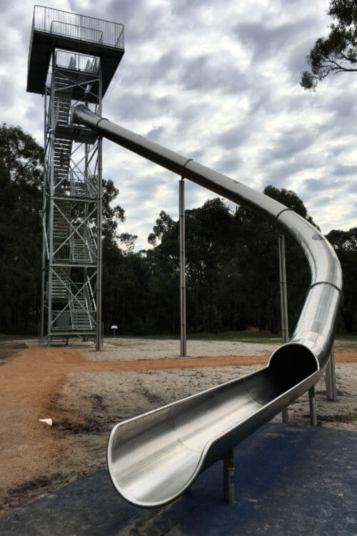 Manjimup Timber Park Giant Metal Slide