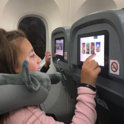 Kids on board Norwegian flight from JFK to LHR