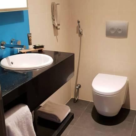 Powder Room in the Queen Suite | Novotel World Trade Centre Dubai Family Review