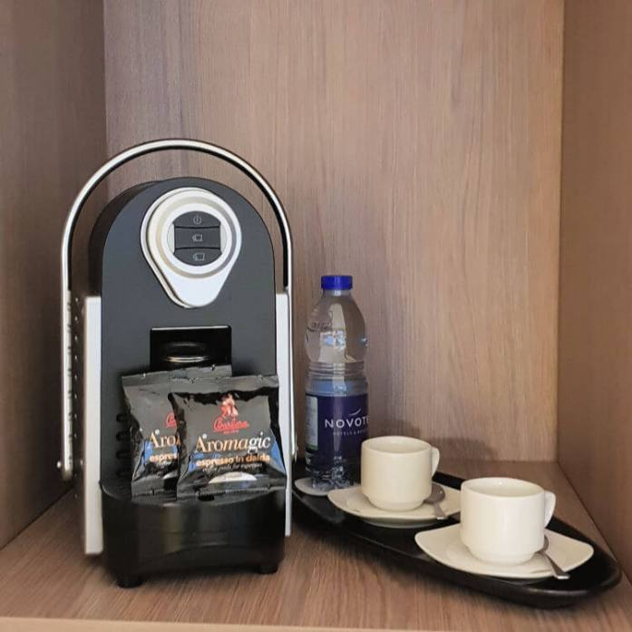 Coffee machine available in Executive rooms | Novotel World Trade Centre Dubai Family Review