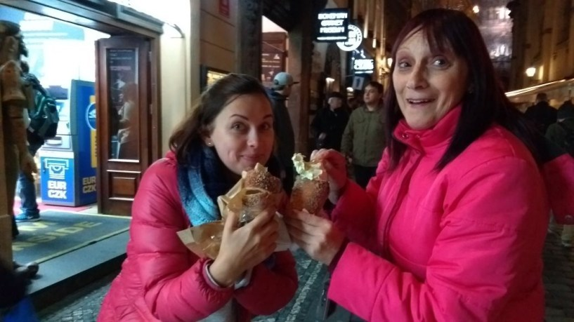 Prague City Centre - eating Trdelnik