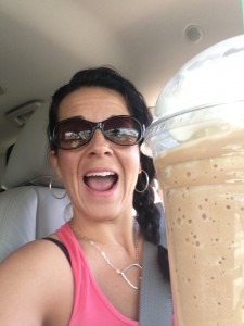 Coffee as I ran errands (okay...I really drink coffee everyday, not just on my children's 1st day of school)