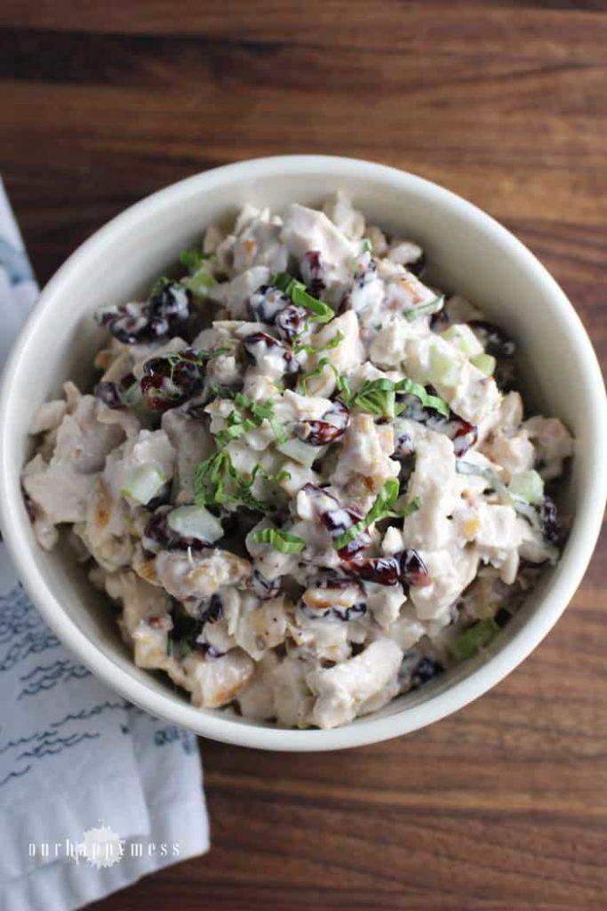 Cranberry Walnut Chicken Salad | www.ourhappymess.com