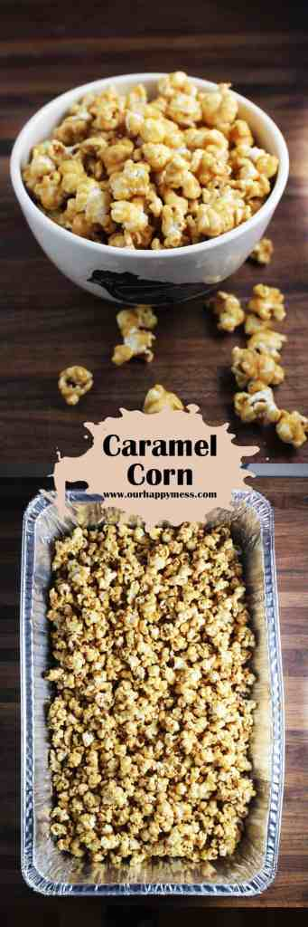 Easy, awesome caramel corn makes a great party snack or the perfect edible gift!