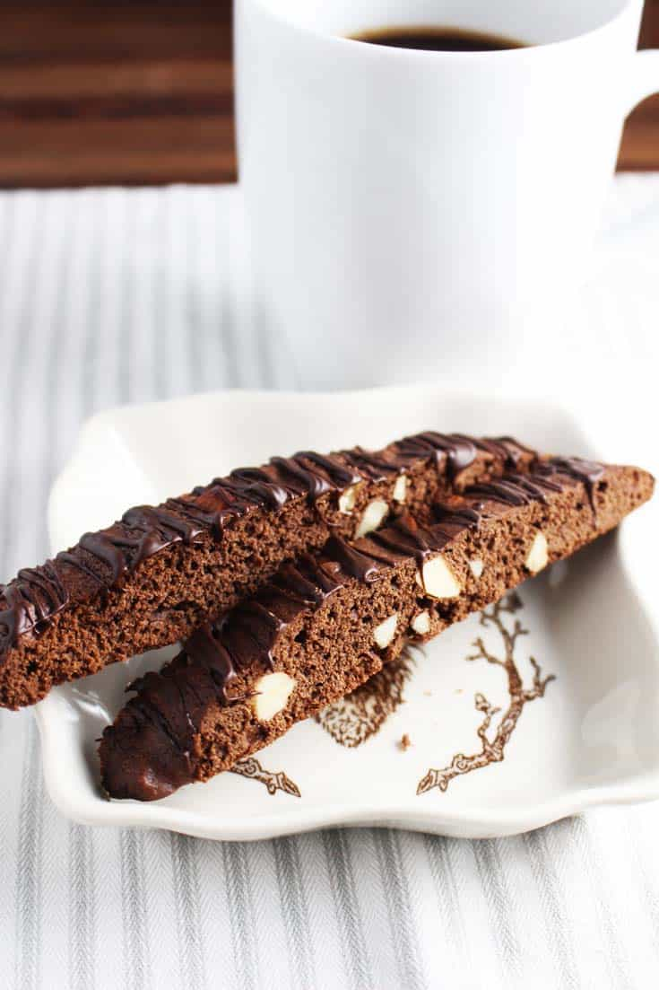 Chocolate Biscotti with Almonds