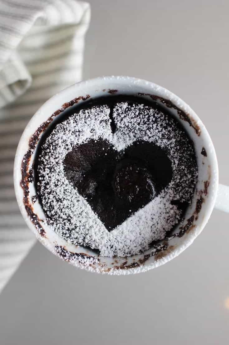 Chocolate Raspberry Mug Cake