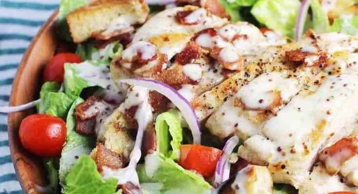 Club Sandwich Salad with Chicken