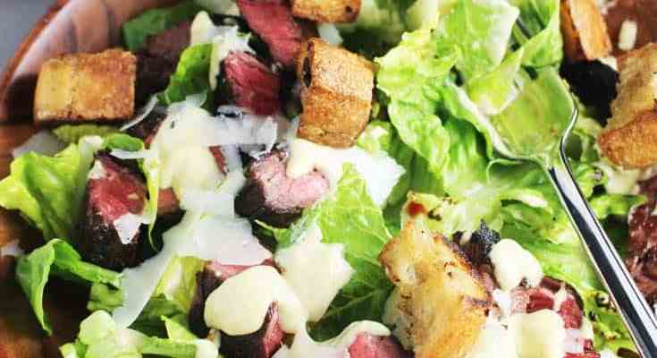 Caesar Salad Recipe with Steak