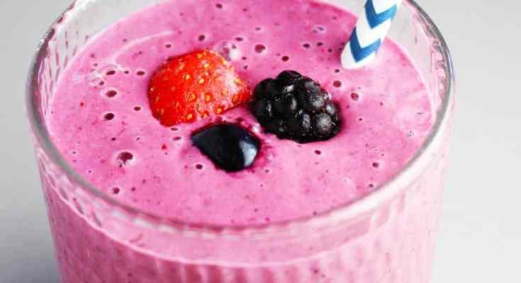 Triple Berry Greek Yogurt Smoothies