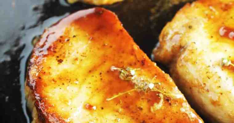 Maple Soy Glazed Pork Chops