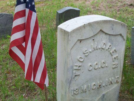 Thomas M. Green military marker