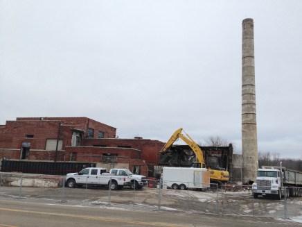 Beginning demolition, east end