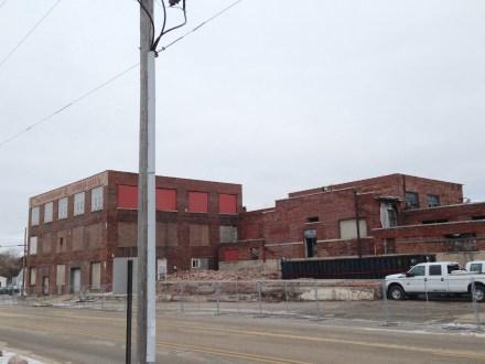 Beginning demolition, west end
