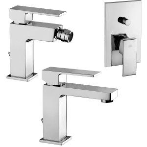 Set miscelatori lavabo+bidet+doccia