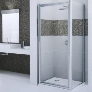 Box doccia quadrato 70x70 porta battente e lato fisso Tobago