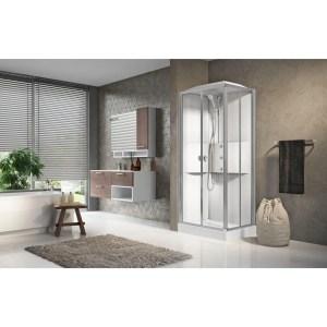 Cabina doccia idromassaggio rettangolare 70x90 porte scorrevoli Media 2.0