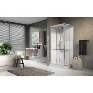 Cabina doccia idromassaggio rettangolare 80x100 porte scorrevoli Media 2.0