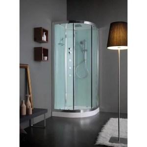 Cabina doccia semicircolare 80x80 porte scorrevoli Essential Idro