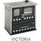Cucina a legna Victoria potenza 7,6 kW pietra ollare