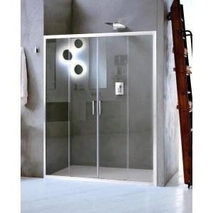 Porta box doccia 140 due ante scorrevoli New Claire