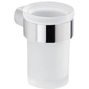 Portaspazzolini con contenitore in vetro satinato G-PIRENEI