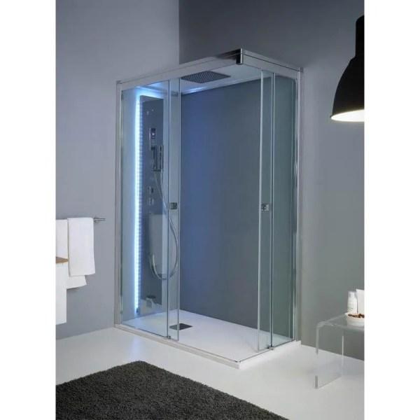 Cabina doccia rettangolare 70x90 porte scorrevoli Aquadesign Vapor