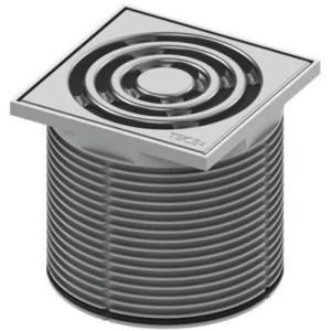 Prolunga e portagriglia in plastica, griglia in acciaio inox 100 mm