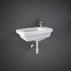 RAK-RESORT Lavamani rettangolare 45x22 bianco con troppopieno