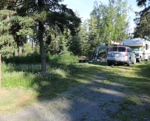Swiftwater Campground in Soldotna, Alaska