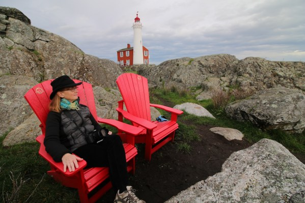 Parks Canada Red Chairs at Fisgard Lighthouse