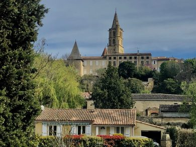 Carcassonne-April-2019-view-of-town-from-bus-to-Toulouse
