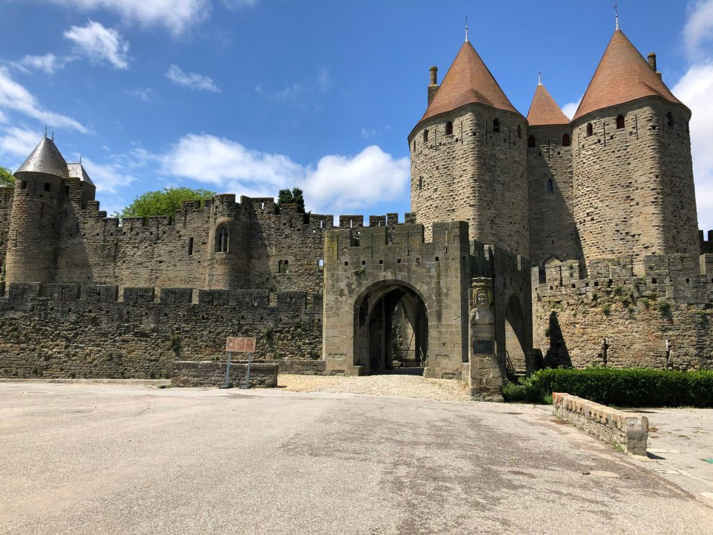 Carcassonne's walled city the Narbonne Gate