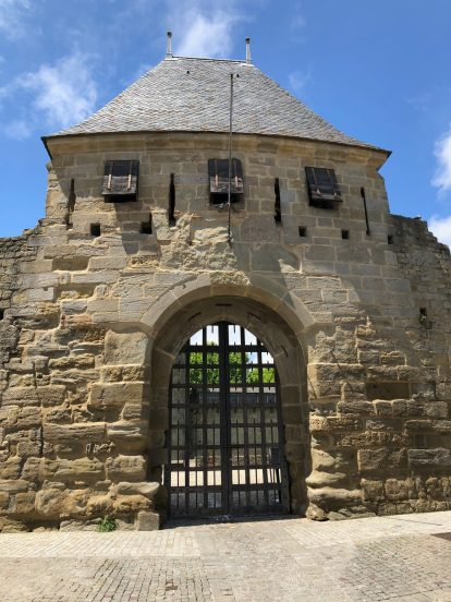 Carcassonne's walled city Entrance to Chateau Comtal