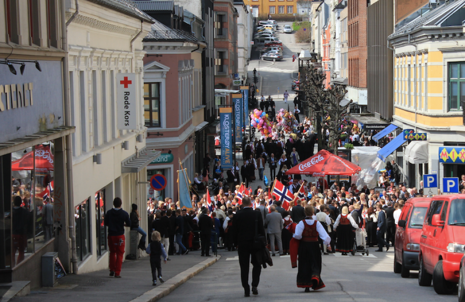 Parade in Skien Norwegian Constitution Day