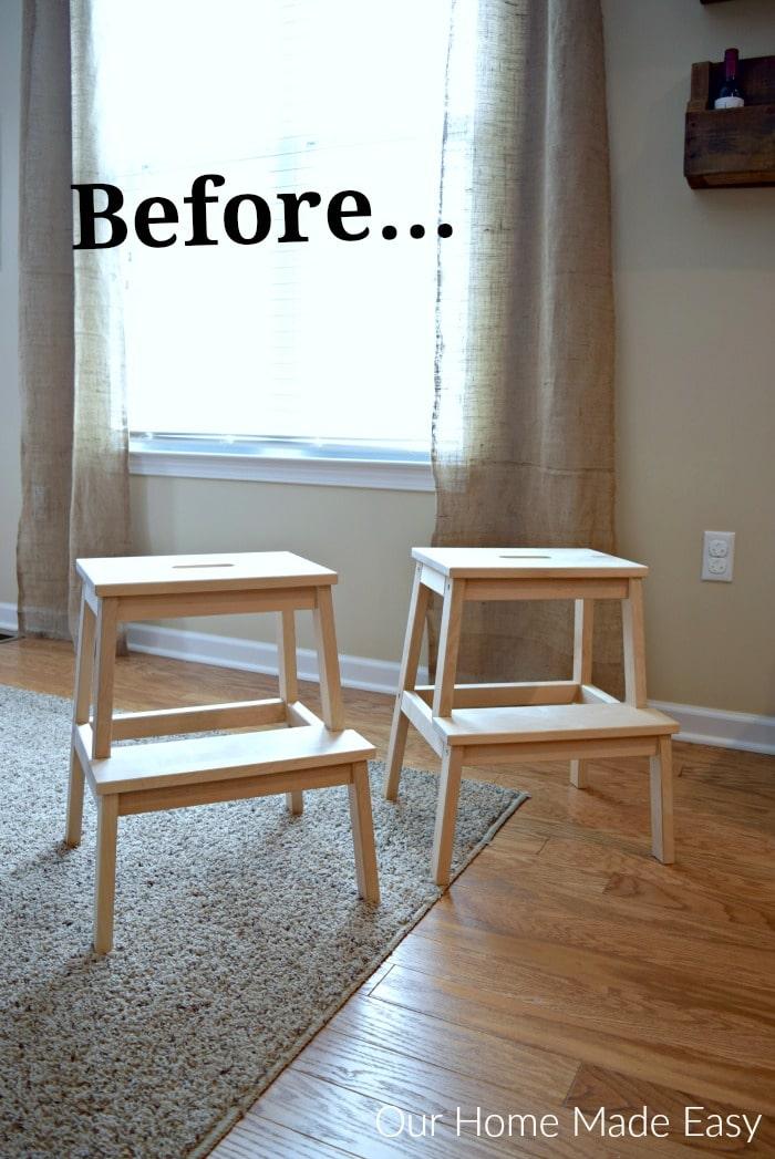 Easy IKEA Bekvam Stool Hack Our Home Made Easy