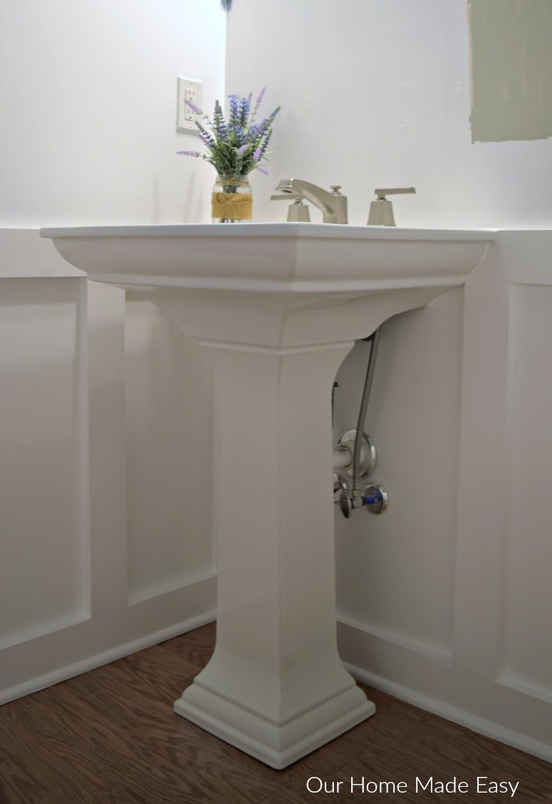 how to install a pedestal sink orc