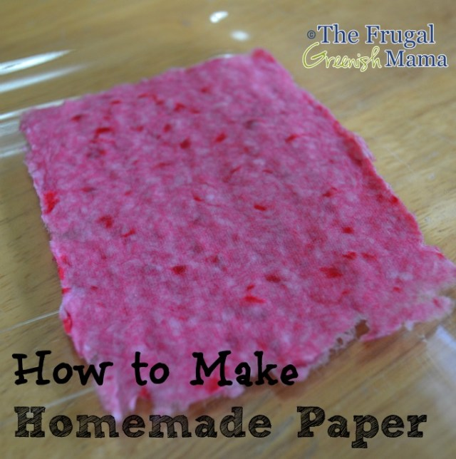 making homemade paper