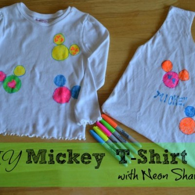 DIY Mickey Mouse T-Shirt with Neon Sharpies