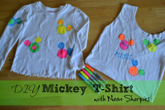 Mickey Sharpie Finished t-shirt