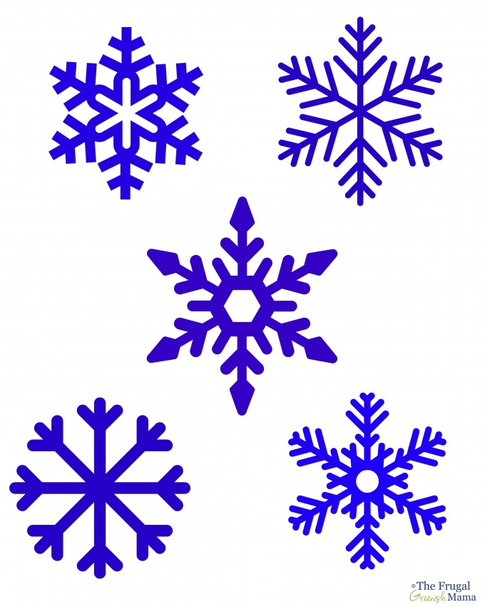 It is a graphic of Snowflakes Printable pertaining to frozen